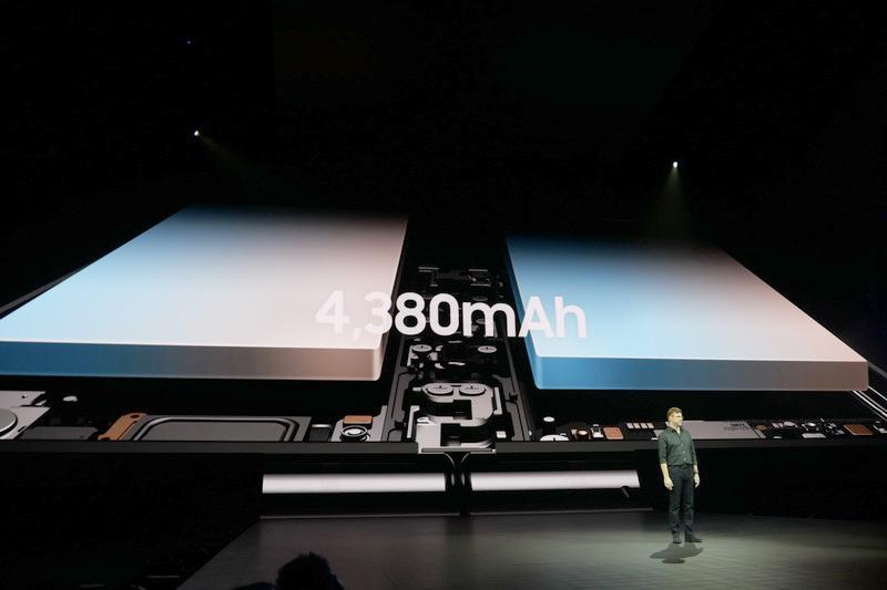 内蔵バッテリ容量は4,380mAh