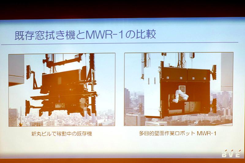 既存の自動窓拭き機とMWRの比較