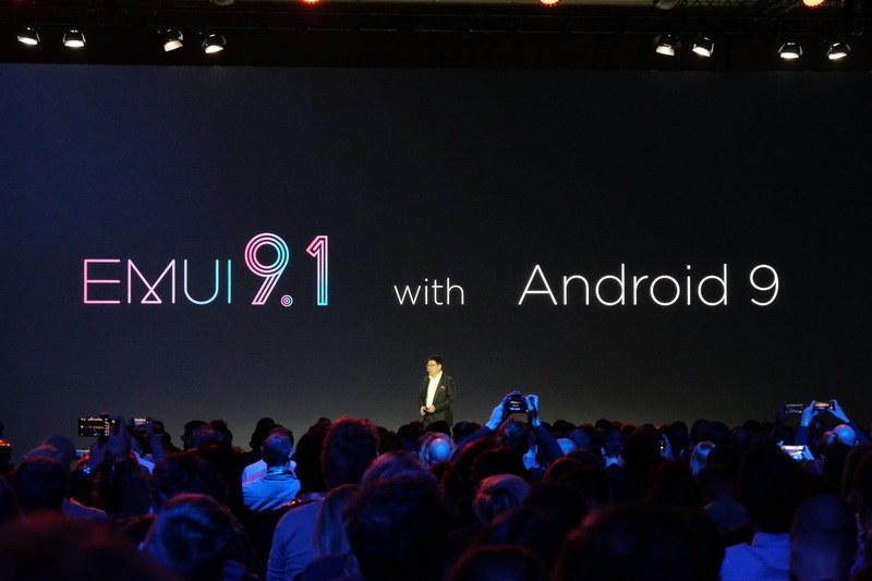 OSはAndroid 9ベースのEMUI 9.1を採用