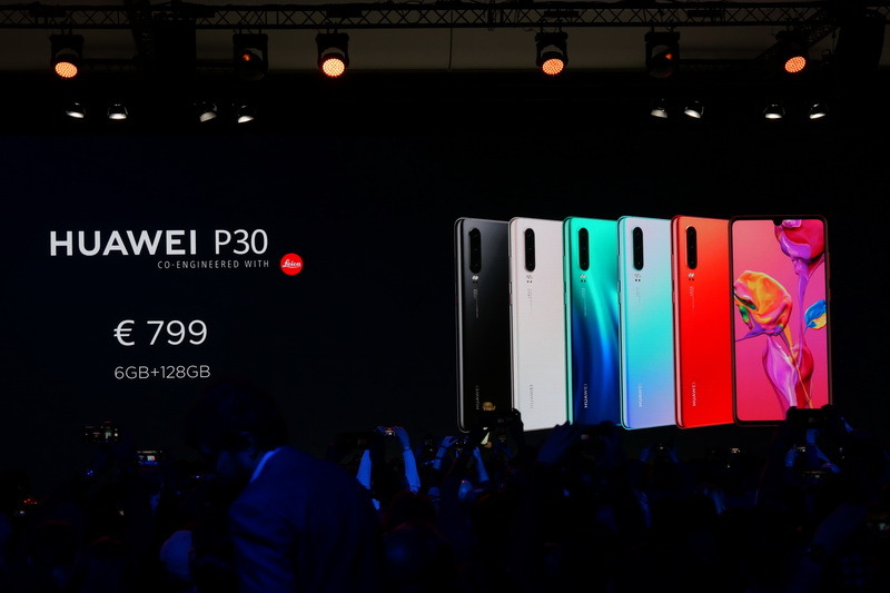 P30の欧州での価格は799ユーロから