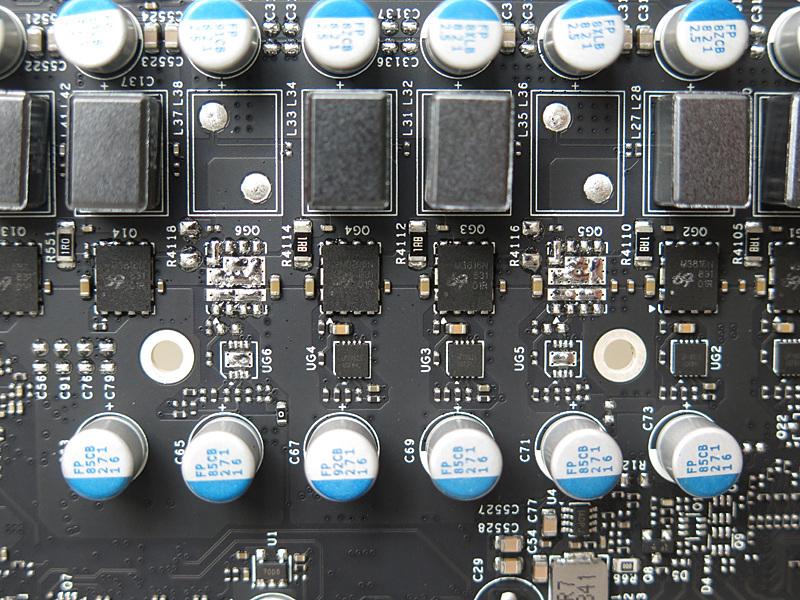 GPU電源は6フェーズで、こちらもuPI製