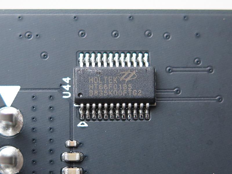 Holtekの「HT66F01285」はRGB LED制御用のマイクロコントローラだ
