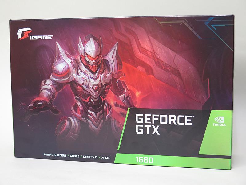 iGame GeForce GTX 1660 Ultra 6Gのパッケージ