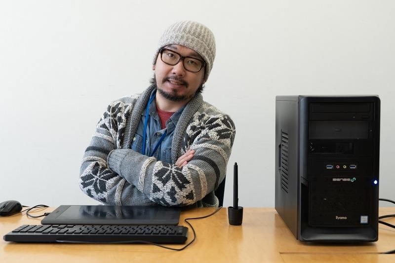 マンガ家の北上諭志氏と「SENSE-M039-i5-UHR-CSP」