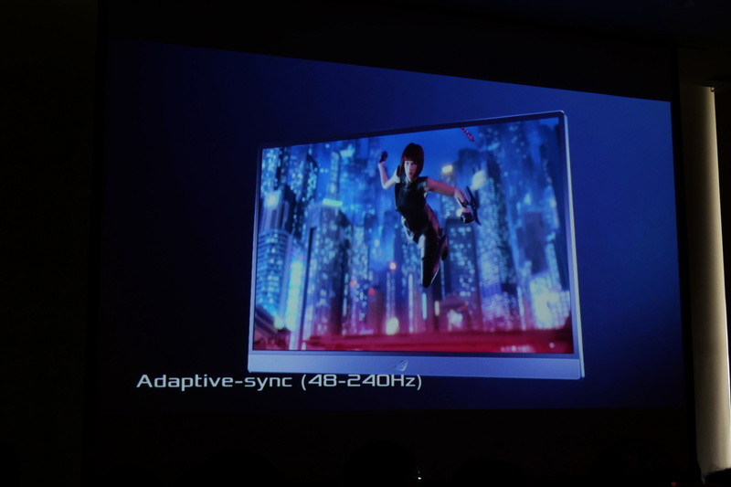 VESAの映像同期技術「Adaptive-Sync」をサポートし、48~240Hzの間で同期が可能