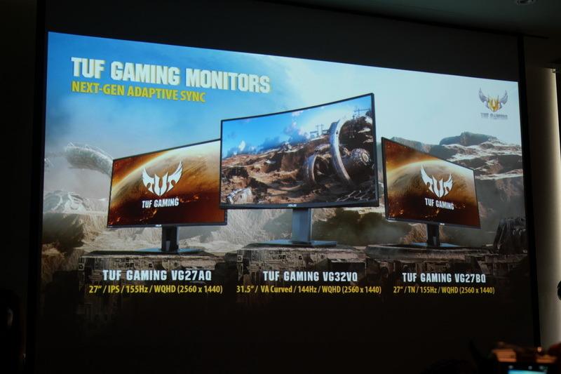 WQHD表示対応の31.5型湾曲VAパネル液晶「TUF Gaming VG32VQ」、WQHD表示対応の27型TNパネル液晶「TUF Gaming VG27BQ」