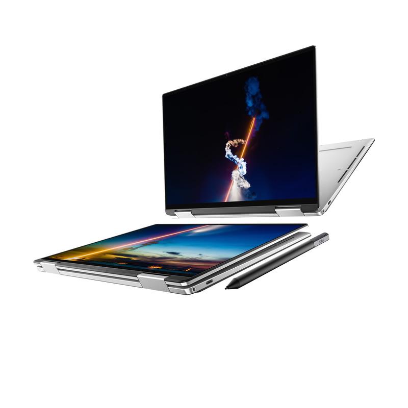 プラチナホワイトのモデル、ペンはオプションとして購入できる(写真提供 : Dell)
