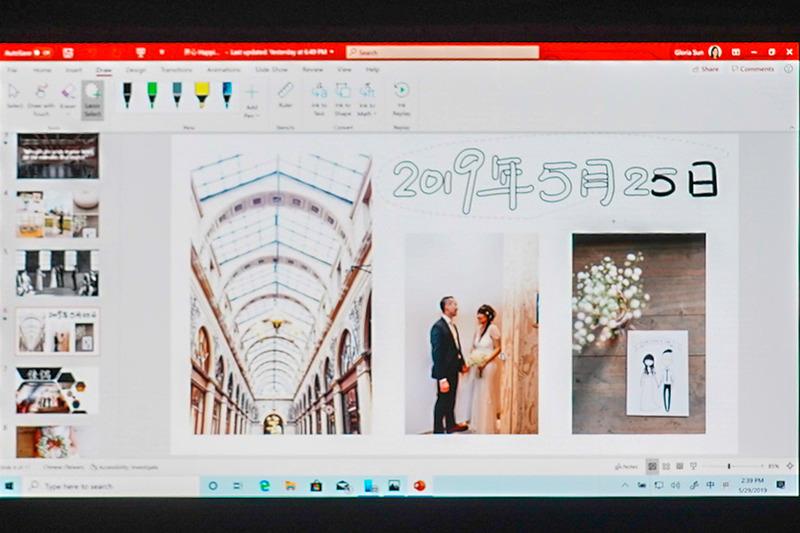 Windows Inkのデモ。アジア言語の認識に対応