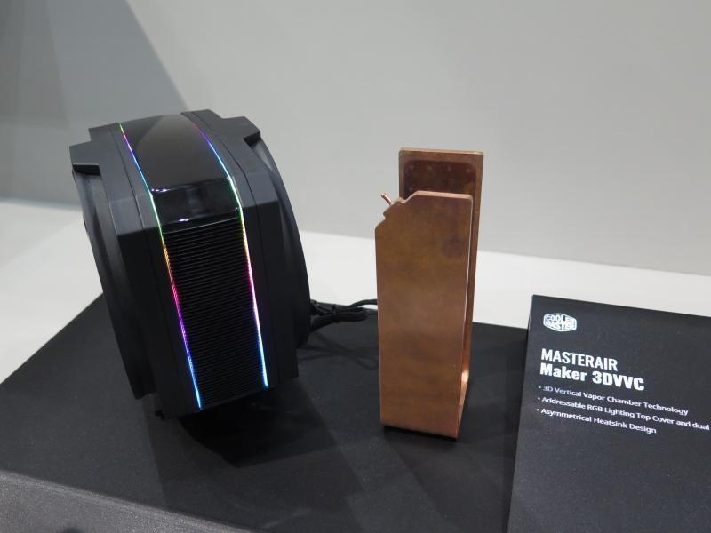 銅製ベイパーチャンバー採用CPUクーラー「MASTERAIR Maker 3DVVC」