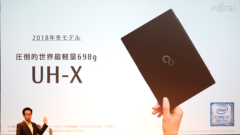 世界最軽量クラムシェルUH-X