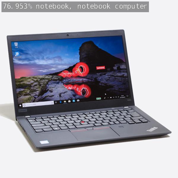 出力画像 /  76.953%でnotebook, computer