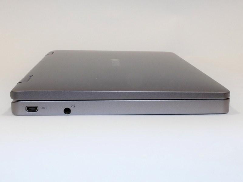 左側面はMicro HDMI出力、音声入出力を装備。この辺りはOneMix 3シリーズ共通の作りだ
