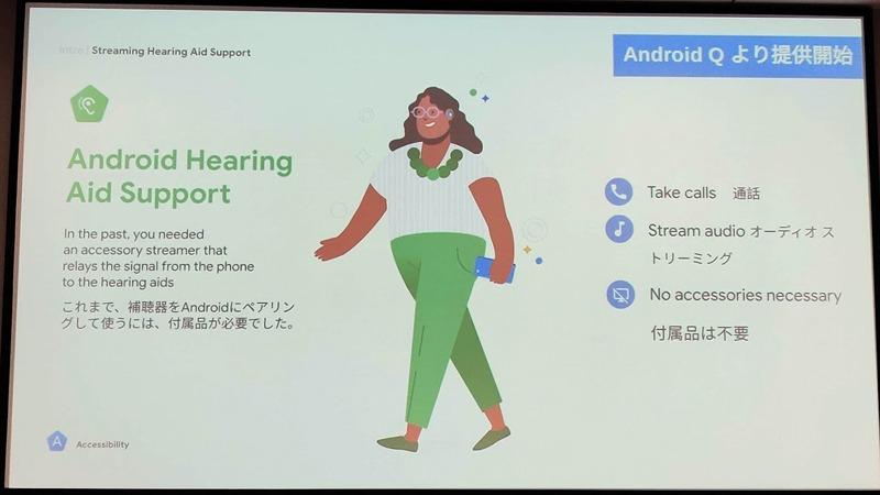 既存の補聴器とAndroid端末と接続するさいは、ストリーマーと呼ばれる別の機器が必要で、持ち運びが不便だった