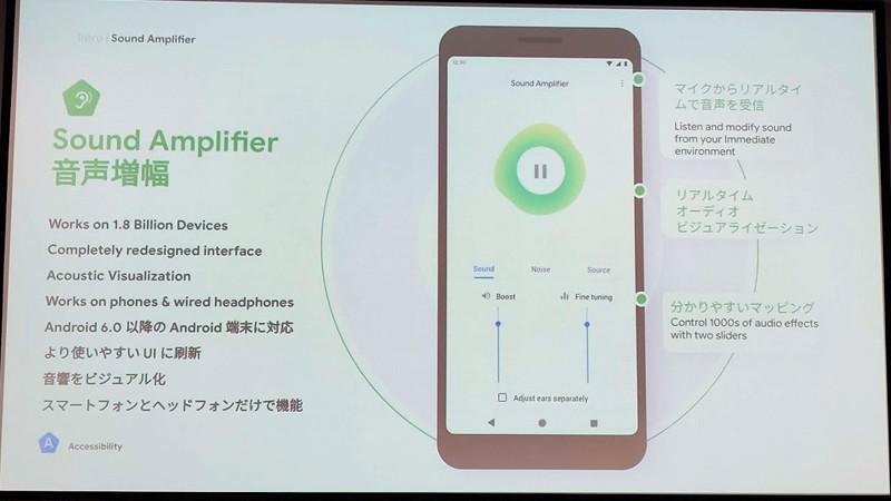 音声増幅のアプリ