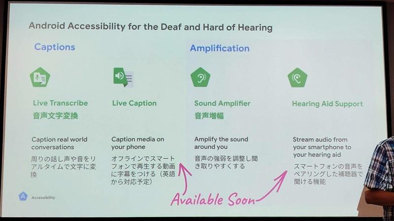 聴覚障碍向けのアクセシビリティ機能には2つのアプローチがある