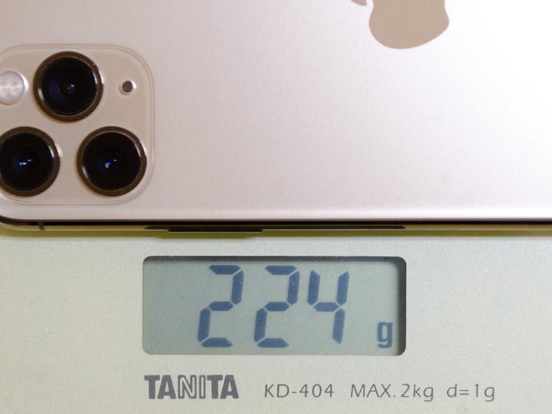 重量は実測で224g