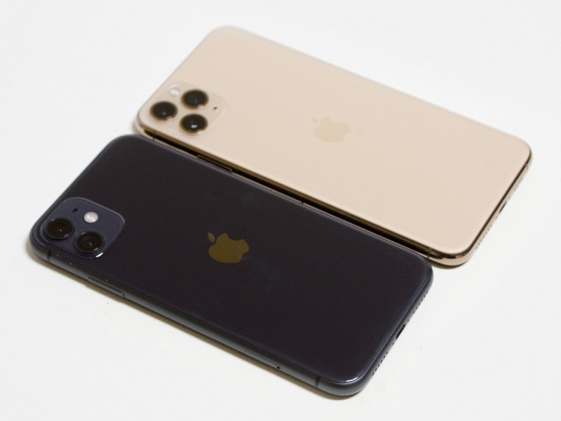 iPhone 11とiPhone 11 Pro Maxの比較