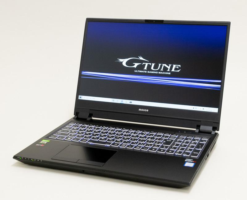 リフレッシュレート240Hzの高速液晶にCore i7&RTX 2070を組み合わせた「NEXTGEAR-NOTE i5750GA1」。G-Tuneの直販サイトにて税別229,800円で販売中