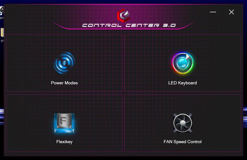 i5750GA1独自要素と言えばこの「Control Center 3.0」。前述のキーボードのLEDやマクロ設定アプリもここから呼び出せる