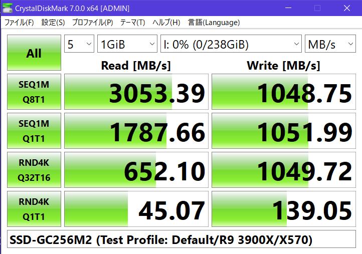 SSD-G256M2のスコア(同)