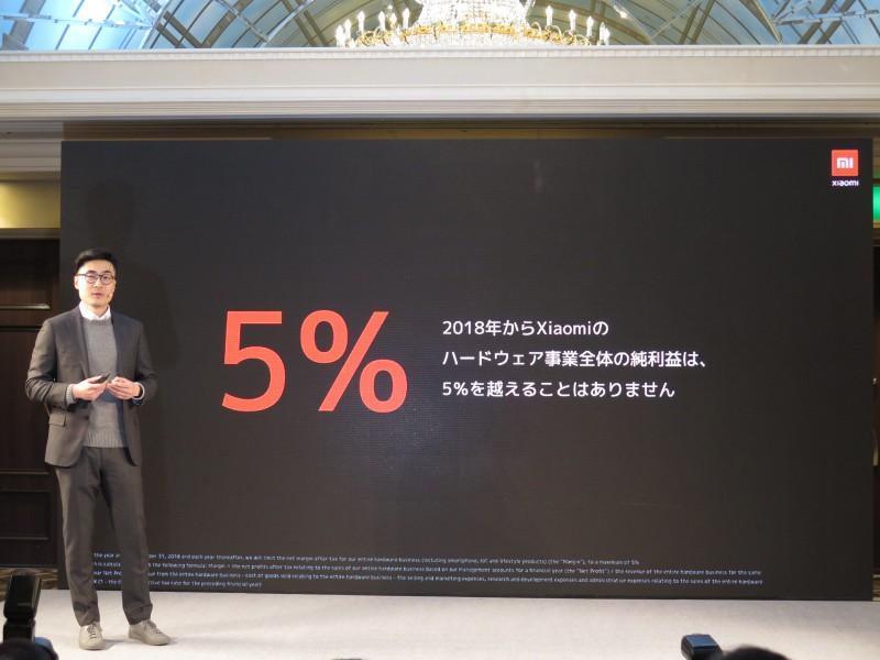 ハードウェアの利益率は5%以内
