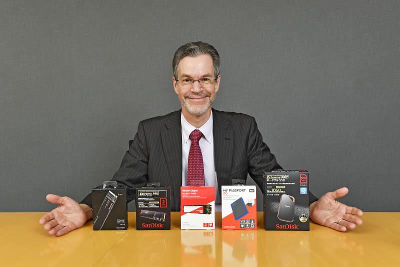 コンシューマユーザーになじみの深い、Western Digitalブランド、WDブランド、SanDiskブランドの各製品