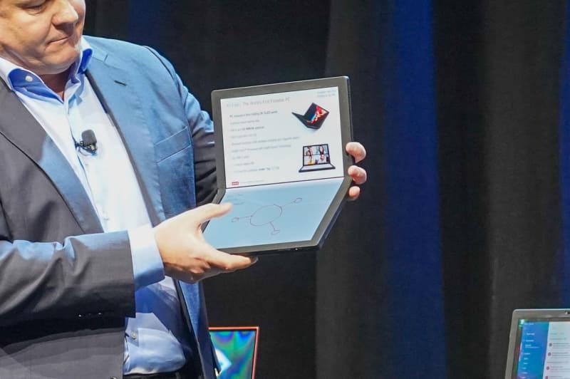 LenovoのThinkPad X1 Fold、Intel Core processor with Intel Hybrid Technology(Lakefield)を搭載