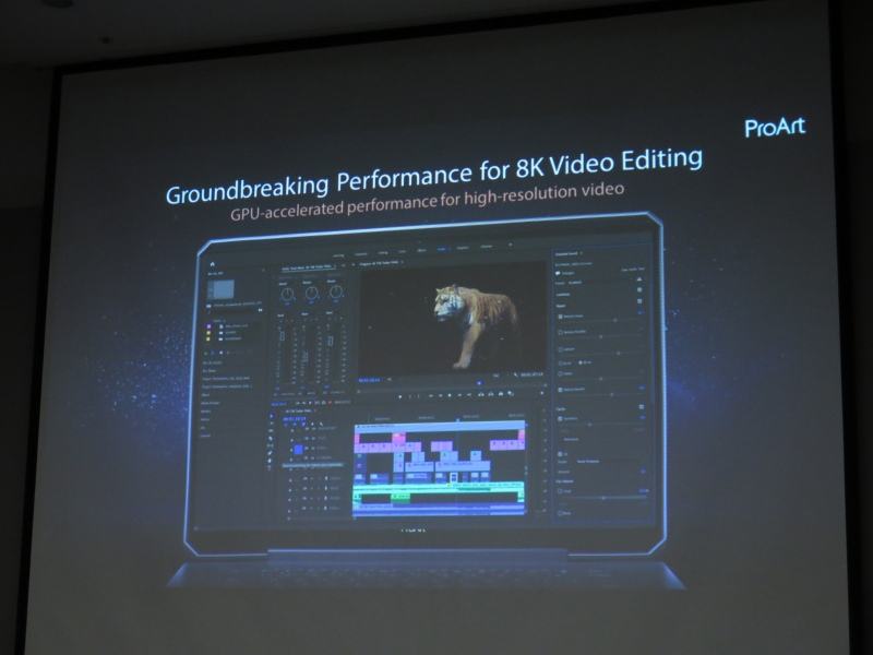 Quadro RTX 6000の搭載により、8Kのビデオ編集が可能