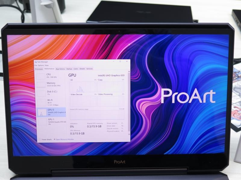 GeForce RTX 6000はIntel UHD Graphicsを介して出力するNVIDIA Optimus仕様だ