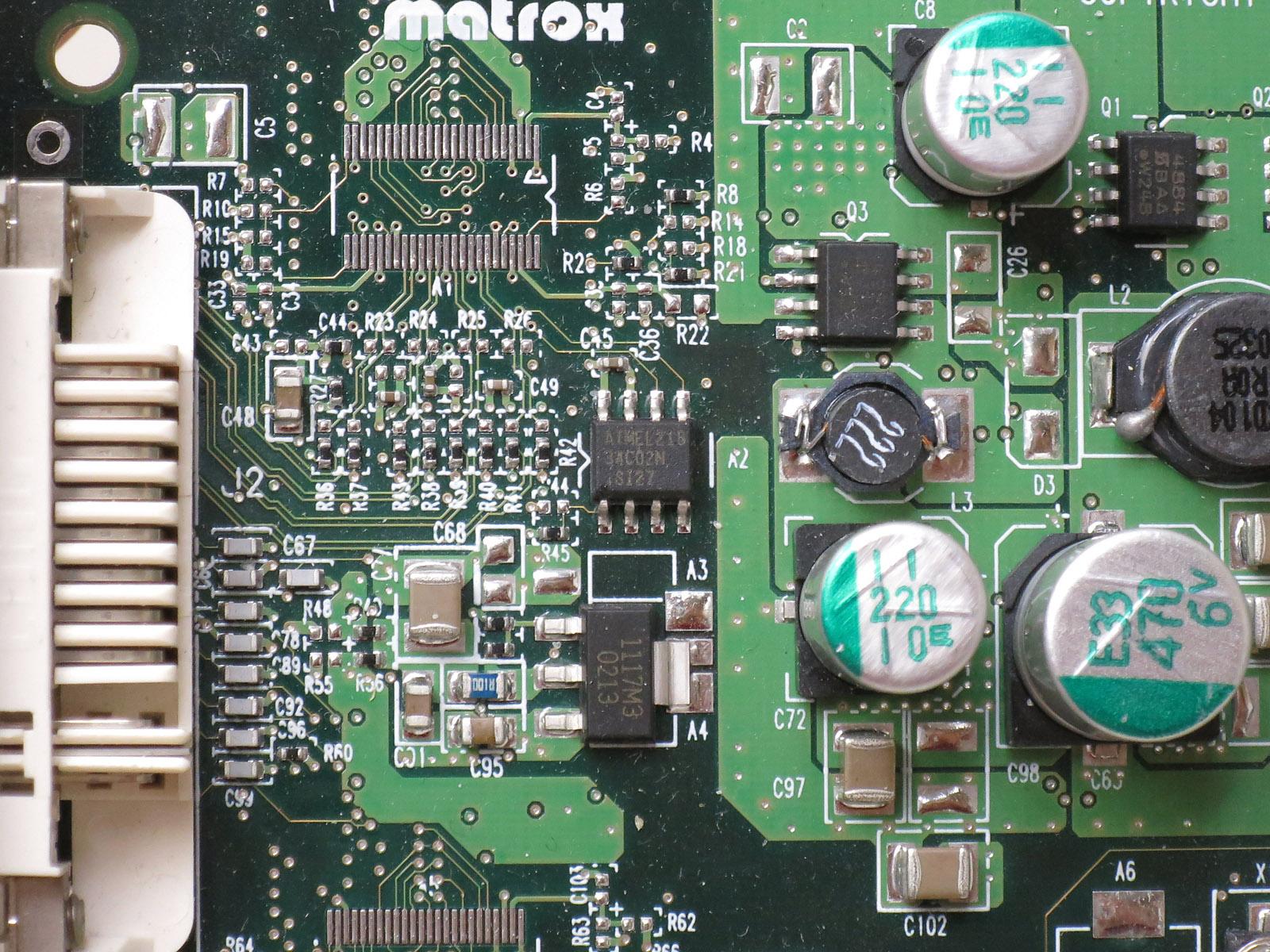 VGA BIOSはAtmel製のシリアルEEPROM「34C02N」に保存されていると思われる