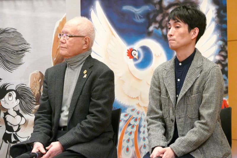 漫画家ちばてつや氏(左)とカラテカ矢部太郎氏