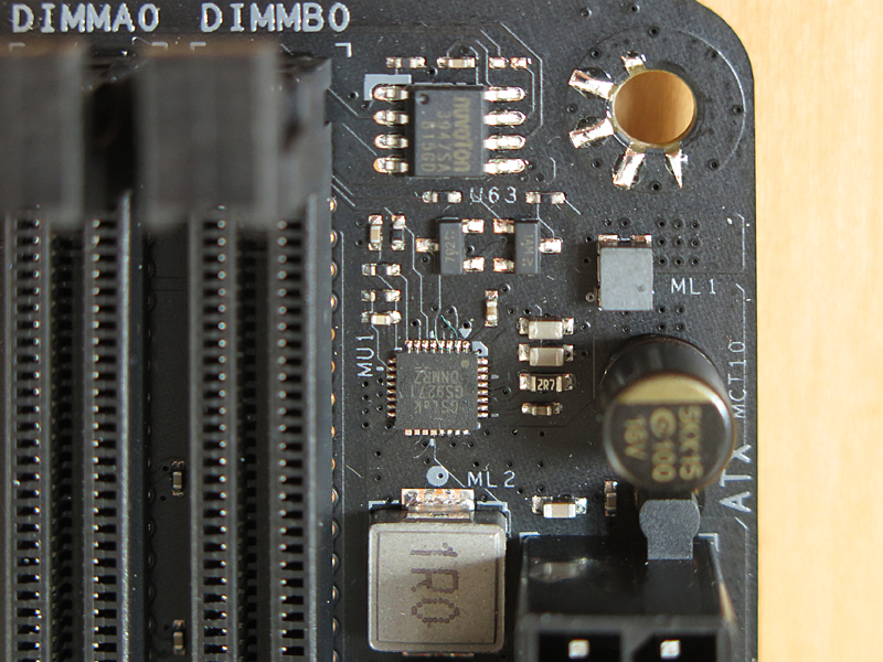 DDR4の電源コントローラにはGStek製の「GS9271」が採用されている
