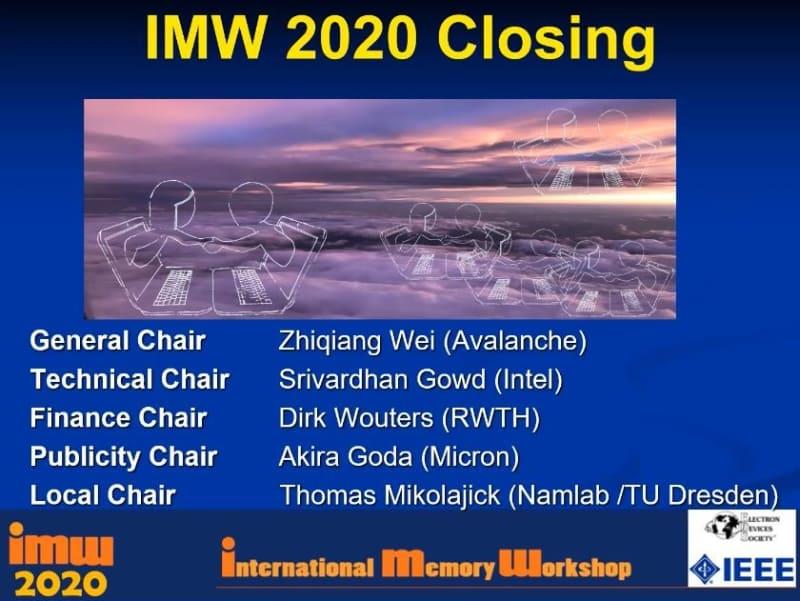 IMW 2020の閉会を告げる最初のスライド