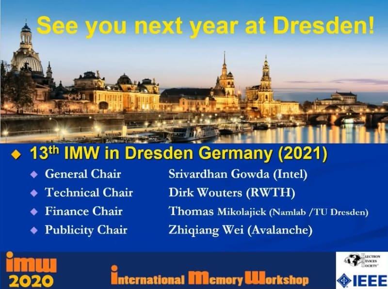 2021年のIMWはドイツのドレスデンで開催される。日程はまだ公表されていない。クロージング・リマークで示されたスライドから