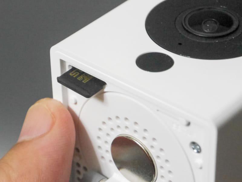 microSDは録画のほか、今回のWebカメラ化ファームウェアの書き換えにも使用する