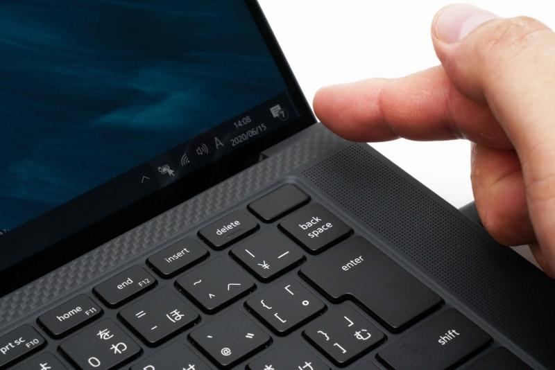 指紋認証センサーは電源ボタン一体型