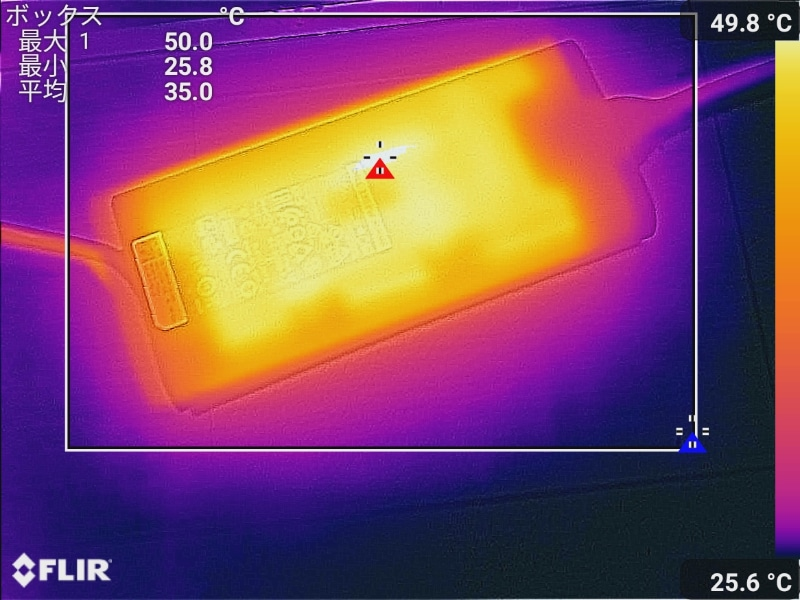 ACアダプタの最大温度は50℃