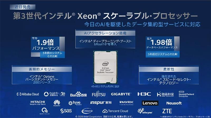 第3世代Xeonスケーラブル・プロセッサ