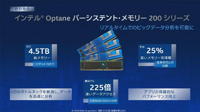 Optaneパーシステント・メモリ 200シリーズ