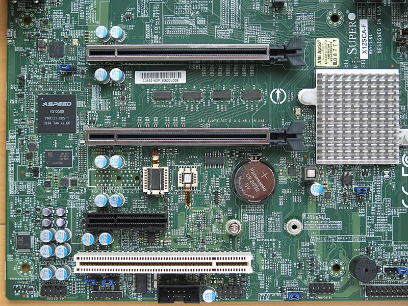 拡張スロットはPCI Express 3.0 x16×2(うち1基はx8レーン接続)、PCI Express 3.0 x4、PCI
