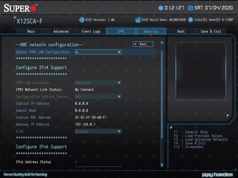 BIOSはC9Z490-PGWとほぼ同じUI(ただしAdvancedモードのみ)
