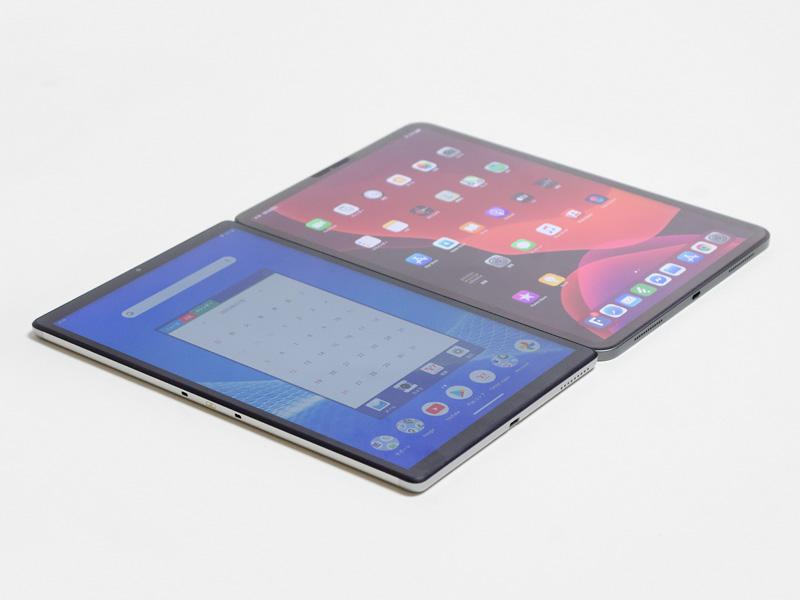 iPad Pro (2018 11)との比較。狭額縁でType-Cになったぶん、サイズは少し違うがiPad Pro@2018 11に気持ち近い感じか