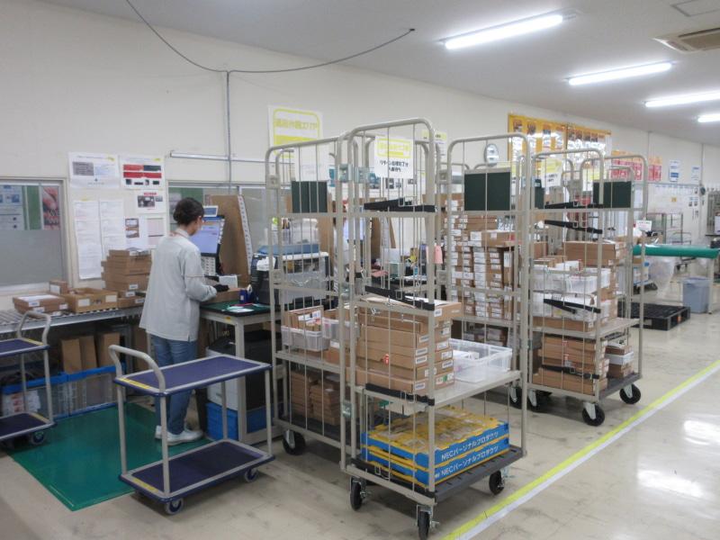 修理エリアで未使用だった部品などを倉庫などに返却するための管理を行なうリターンセンター