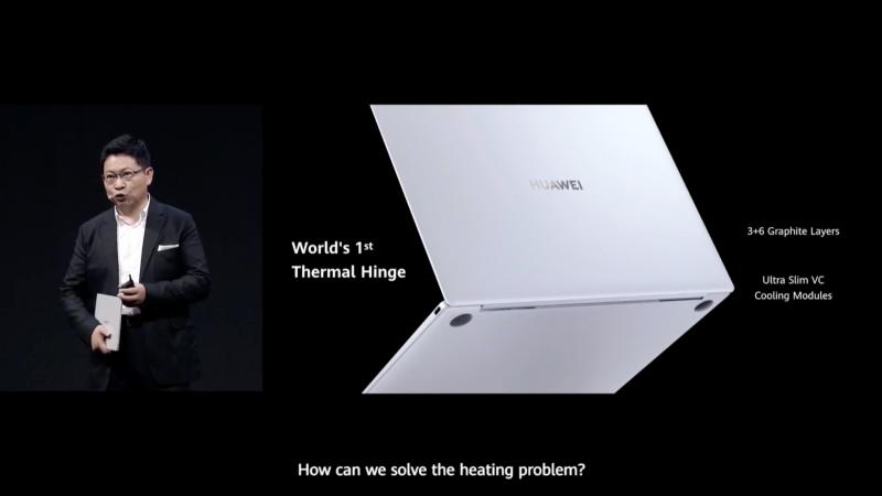 世界初というヒンジから天板で冷却する「Thermal Hinge」を採用し、ファンレスを実現