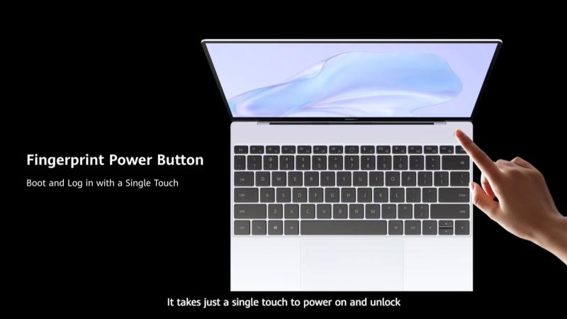 電源ボタンに指紋認証センサー