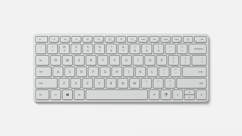 Microsoft Designer Compact Keyboardのホワイトモデル