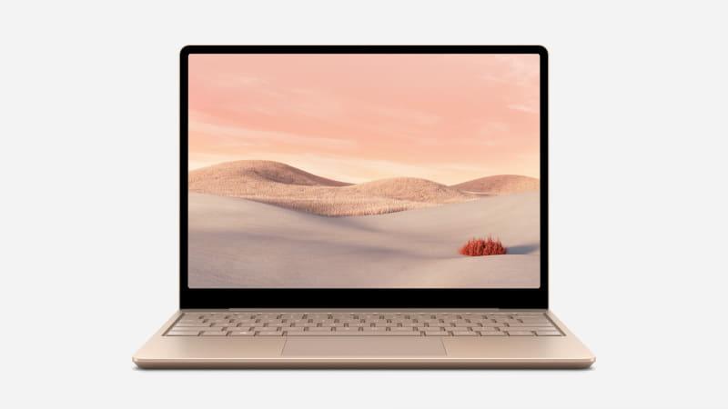 MicrosoftのSurface Laptop Go、1,536×1,024ドットの12.45型ディスプレイを採用している