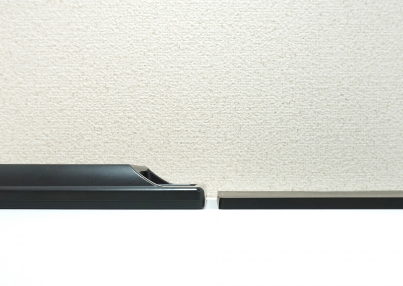 左がLCD-10169VH、右がJN-MD-IPS1010HDR。液晶ディスプレイの進化を感じる部分