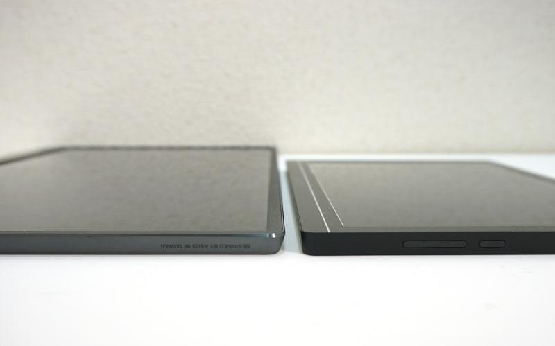 厚みはMB16ACが8mmで、JN-MD-IPS1010HDRが8.5mmなので、ほとんど変わらない