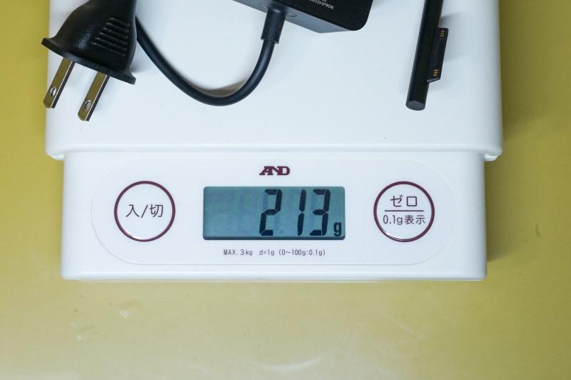 重量は213g